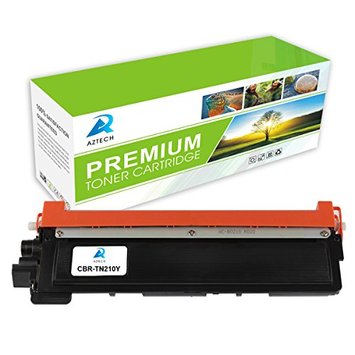AZTECH 1Pack 1,400 Pages Yield Yellow Toner cartridge Replaces Brother TN210Y TN-210Y TN-210 TN210 Used For Brother HL-3040CN HL-3070CW HL-3045CN HL-3075CW MFC-9010CN MFC-9320CW MFC-9125CN MFC-9325CW