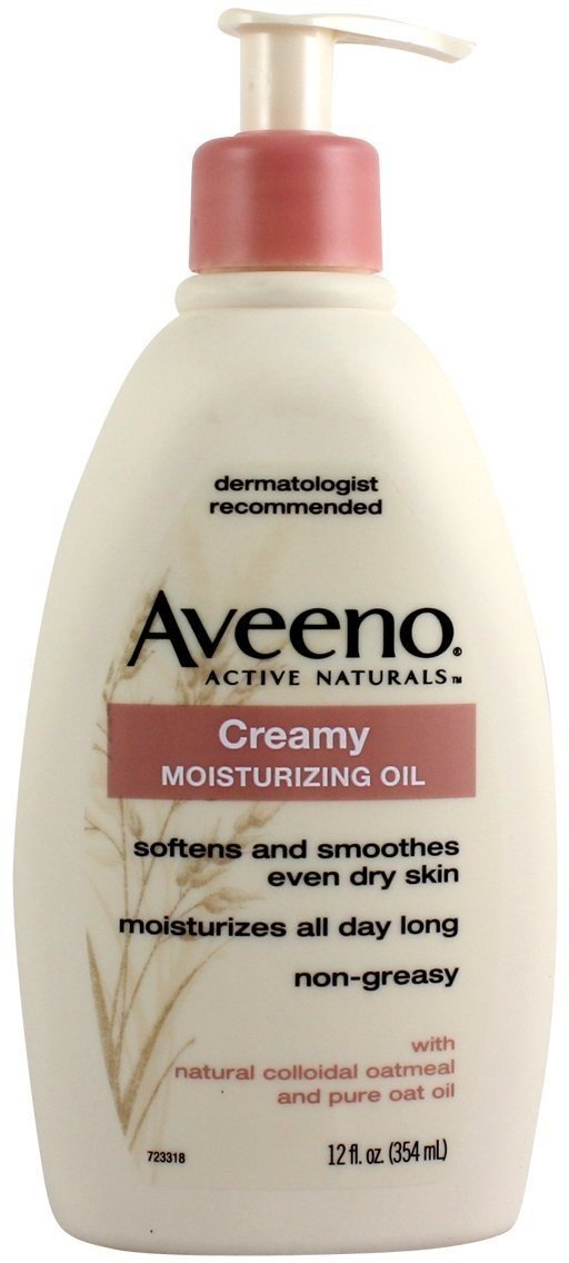 AVEENO Active Naturals Creamy Moisturizing Oil 12 oz (Pack of 6)