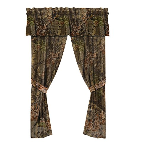"""The Woods"" Camo Curtain & Valance 5 Piece Drape Set Forest"