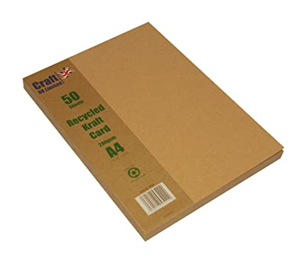 Amazon Com Craft Uk 2042 A4 Kraft Card Brown Pack Of 50 Sheets