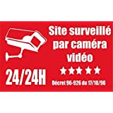 """Panneau """"site surveillé par caméra vidéo"""""""