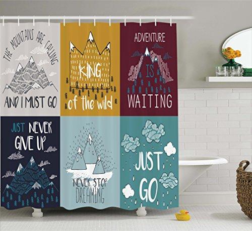 Ambesonne Inspirational Motivational Illustration Decorations