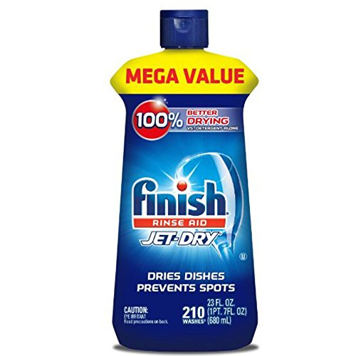Finish Jet-Dry Rinse Aid, 23oz, Dishwasher Rinse Agent & Drying Agent Only $6.56