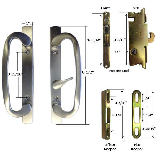 STB Sliding Glass Patio Door Handle Kit with Mortise Lock...