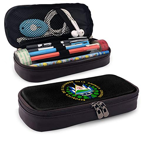 El Salvador Coat of Arms Pencil Case Pen Bag Pouch Holder Makeup Bag for School Office College