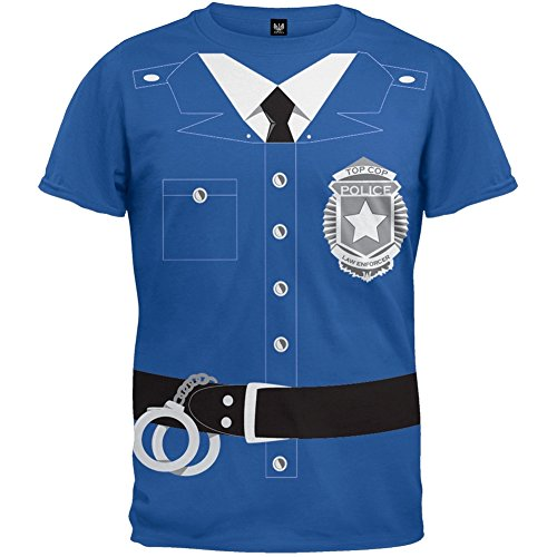 Old Glory Halloween Police Policeman Cop Costume T-Shirt - Large -