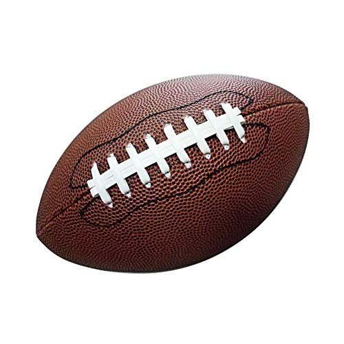 JaneDream American Football Size 9 Rubber Composite for for Student Adult Training Professional Competition NFL Match Rugby Ball 2# - Composite Wee Pee Football Leather