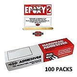 Red 2 Non Sag 3.5g Double Bubble Epoxy Packet Includes 100 Packs Super Fast Set Hardman 04008 By Midwest Corvette
