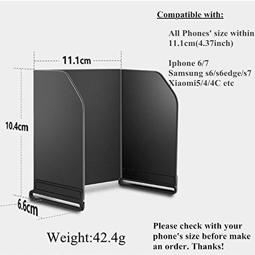 FPV-Sunshade-Monitor-Sun-Hood-for-DJI-Spark-DJI-Mavic-pro-Mavic-AIR-Inspire-1-Phantom-3-4-OSMO-Remote-Controller-Fits-for-IPhone-6-7-Samsung-S6-S7-Monitor-Length-43-L111mm