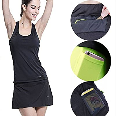 ZOANO Women's Active Athletic Skort Lightweight Skirt with Pockets for Performance Training Tennis Golf & Running at Women's Clothing store