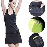 ZOANO Women's Tennis Skirt Athletic Skort with