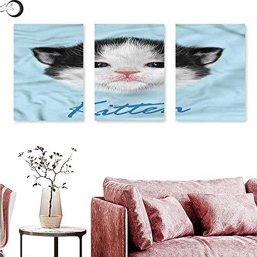 Anniutwo Cartoon Wall hangings Furry Pink Nose Kitten Wall Panel Art W 20