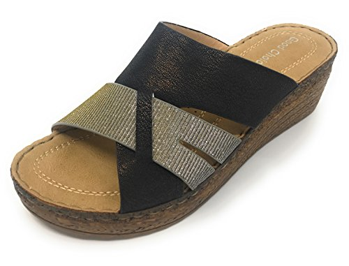 Shoes Comfort Black Raquel Slide Wedge Gc dR8dq