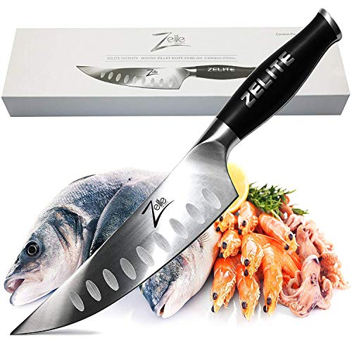 (Zelite Infinity Boning Fillet Knife (Gokujo) - Comfort-Pro Series - High Carbon Stainless Steel Chef Knives X50 Cr MoV 15 >> 6