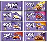 Milka Assorted Chocolates Variety Pack of 8 Bars