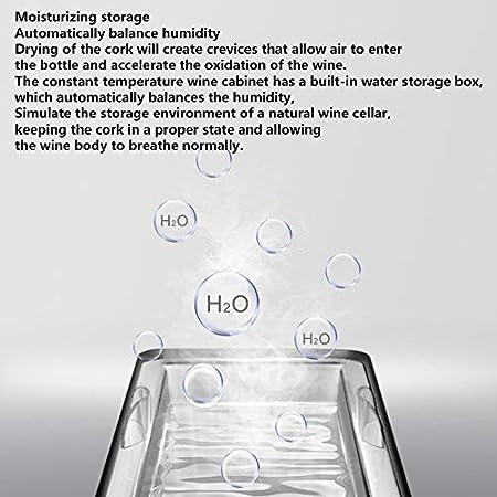 Bodega 28 Botellas Refrigerante 70L, Bebidas Refrigerador A, Minibar, Zonas De Temperatura 12-18 ℃ De Pantalla Táctil, Silencioso, De Iluminación LED Azul, 7 Estantes De Cromo, Negro