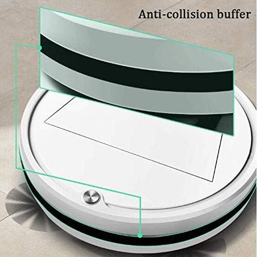 ZEH Aspirateur Robot et Mop Ultra Cleaner Forte Aspiration Silencieux Tampon Collision Robot Idéal for Animaux Poil Dur Floors Mince Tapis FACAI