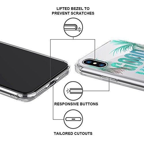 MOSNOVO Funda para Apple iPhone X 5.8 Carcasa Case Bumper con Shock- Absorción y Anti-Arañazos Borrar Espalda (Flower Skull) Good Vibes Only