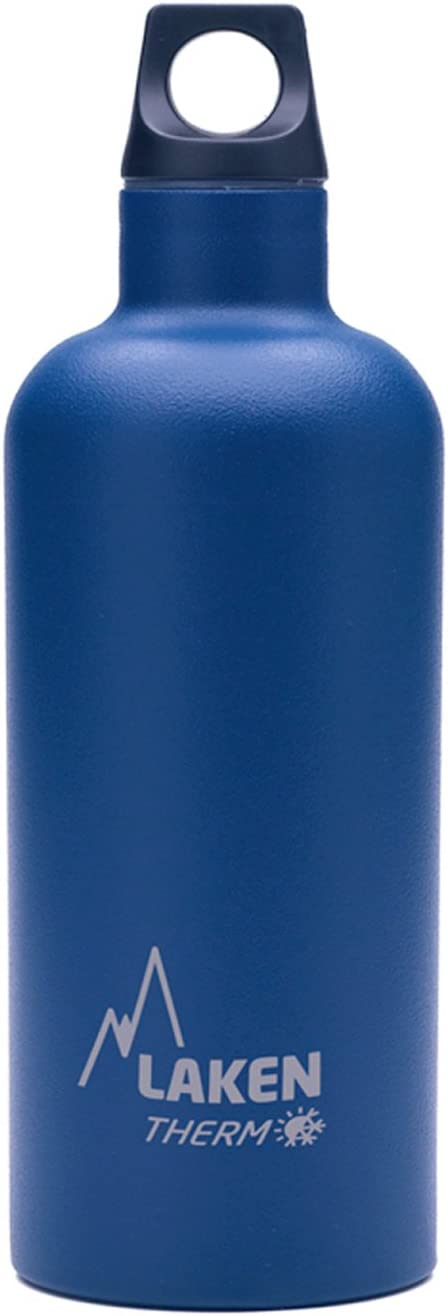 Laken Futura Botella Térmica Acero Inoxidable 18/8 y Doble Pared de Vacío, Unisex adulto, Azul, 500 ml