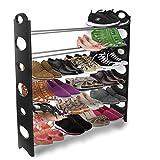 PowerLead Pshw W001 Shoe Rack Storage Organizer 10-Tier 50-Pair Portable Wardrobe Closet Bench Tower