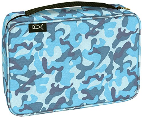 Divinity Boutique Bible Cover Basic Sky Blue Camo - Large (21435)