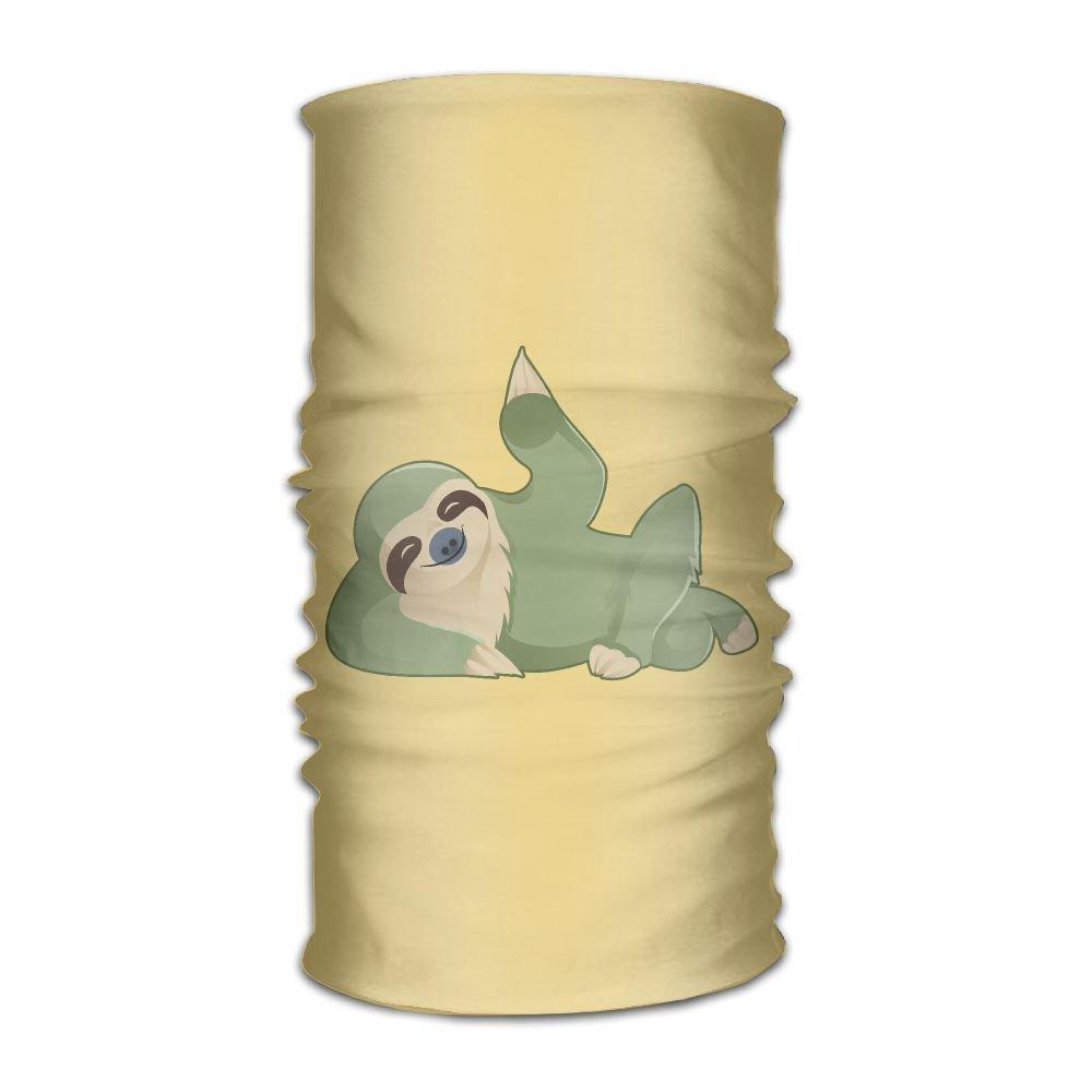 Magic Headwear Green Sloth Outdoor Scarf Headbands Bandana Mask Neck Gaiter Head Wrap Mask Sweatband