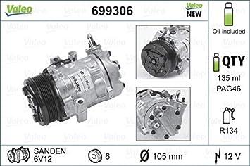 Valeo 699306 Compresor, aire acondicionado: Amazon.es: Coche ...