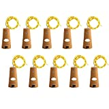 Wine Bottle Lights with Cork, LoveNite 10 Pack Battery Operated LED Cork...