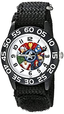 Marvel Kids' W002624 Avengers Time Teacher Analog Display Analog Quartz Black Watch by eWatchFactory