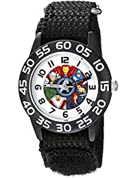 Kids' W002624 Avengers Time Teacher Analog Display Analog Quartz Black Watch