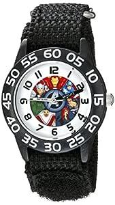 Marvel Kids' W002624 Avengers Time Teacher Analog Display Analog Quartz Black Watch