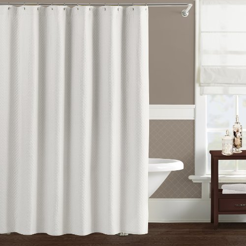 Lamont Limited Diamante Shower Curtain White Outlet