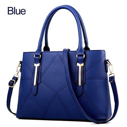 Bolsos El Azul De Manera Mujer Bolsas Bolsos Mujeres Para Trabajo Crossbody La Cuero Pu La Duro De Para Bolsos De x0wxHa