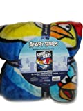 Angry Birds Large Plush Fleece Mink Blanket Throw