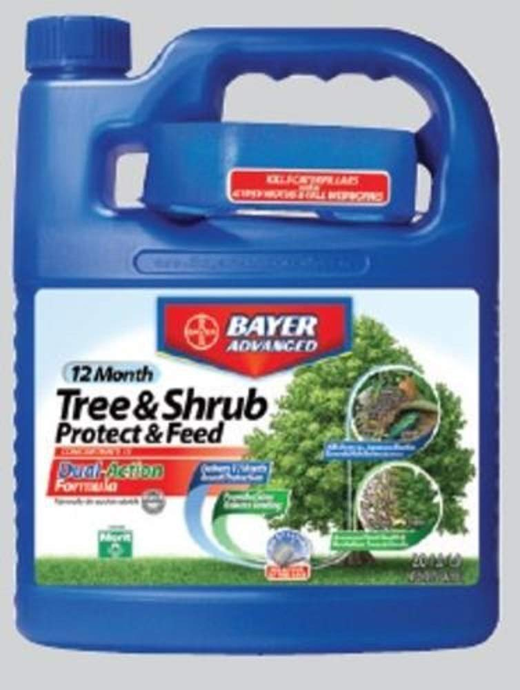 BioAdvanced Tree & Shrub Protect & Feed 64 oz Systemic Drench Concentrate - Kills Emerald Ash Borer, Japanese Beetle & Whitefly by BioAdvanced