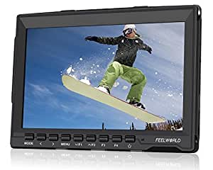 """Feelworld FW759 7 inch Ultra HD 1280x800 IPS Screen Camera Field Monitor for BMPCC with 11"""" Magic Adjustable Arm and 15mm Rod Clamp"""