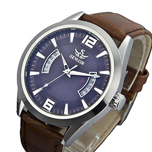 Sewor Men's Calendar Automatic Mechanical Wrist Watch C1210