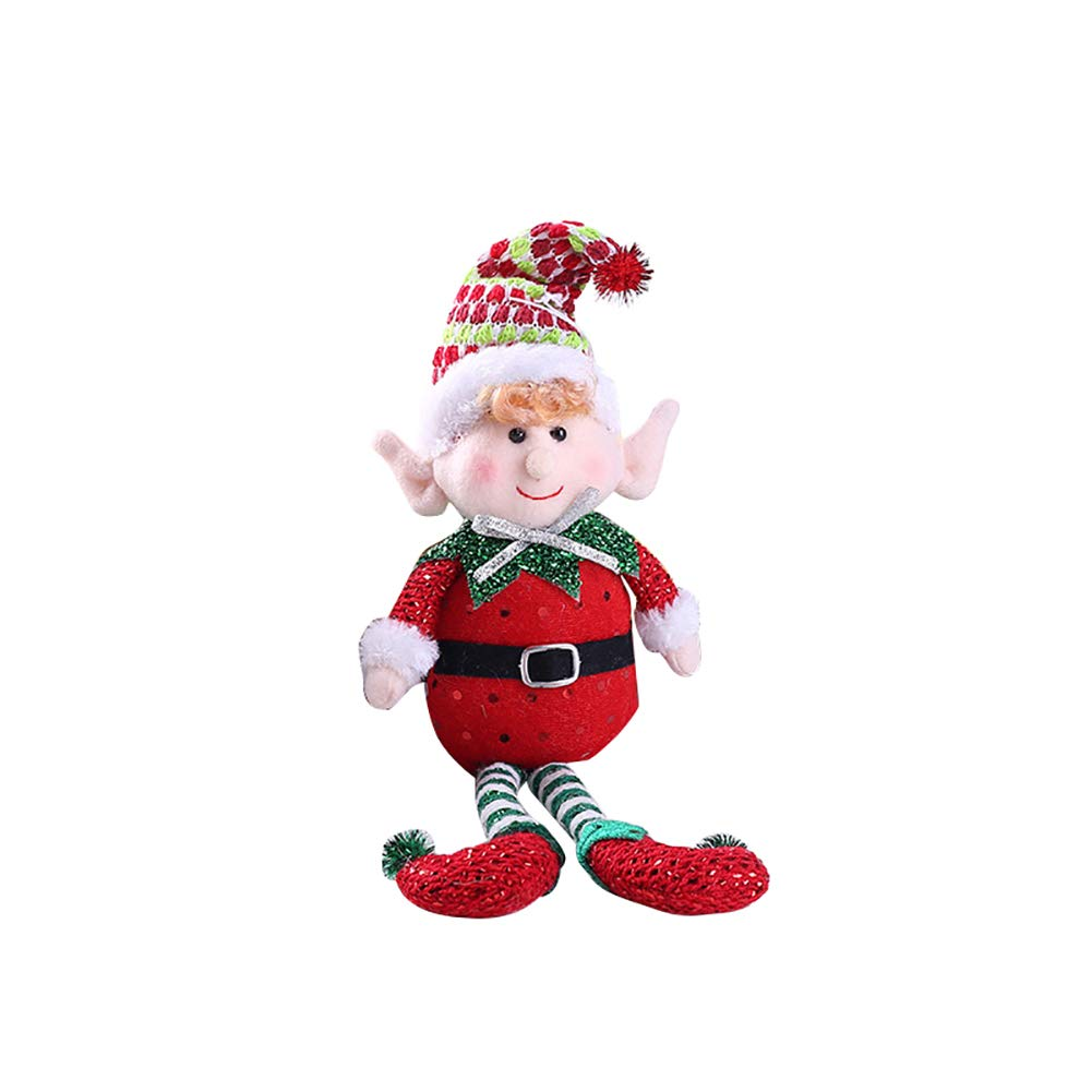Connoworld Cute Colorful Long-Legged Elf Christmas Doll Gift Party Home Tree Decoration Red