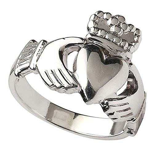 Ladies Sterling Silver Heavy Irish Claddagh Ring From Ireland