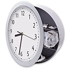 Besplore Wall Clock with Hidden Safe,10 Inch,White