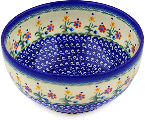 Polish Pottery Bowl Spring Flowers (large) ()