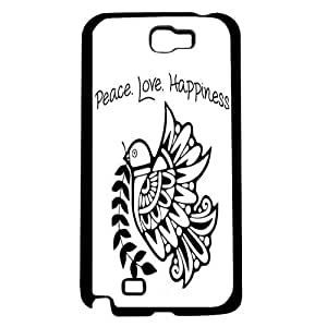 Peace Love Happiness with Tribal Dove Hard Snap on Phone Case (Note 2 II)