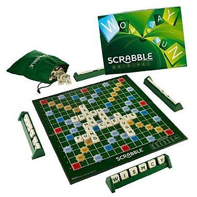 Scrabble Halloween Costumes (ZCLVintage Classic Word Score Game Scrabble Original Tiles Kids Board Games)