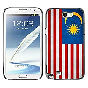 Shell-Star ( National Flag Series-Malaysia ) Snap On Hard Protective Case For Samsung Galaxy Note 2 II / N7100