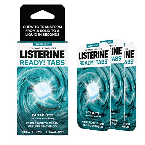 - Listerine Ready! Tabs Chewable Tablets with Clean Mint Flavor, 24 Count
