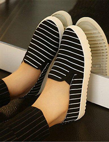 White Zapatos mocasines De Casual Eu39 plataforma Eu40 Cn41 tela Azul Zq Uk7 creepers 5 Uk6 5 us8 Mujer exterior Laboral Black Blanco Cn40 us9 negro Gyht 6xqwxY5A