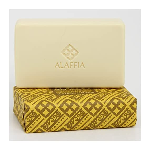 Alaffia Fair Trade Shea Butter Triple Milled Soap, 5 oz Bar 5 100% Fair Trade Ingredients Triple-Milled for Long Lasting Use No Synthetic Fragrance