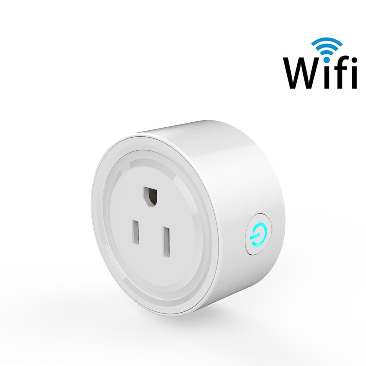 Smart Socket, MWAY Mini Smart Plug WiFi Enabled,Remote Control From Anywhere,Compatible with Alexa,Support 2.4GHz Wifi Networks,Voltage 100-240V,Electrical Power Switch for Household Applicances