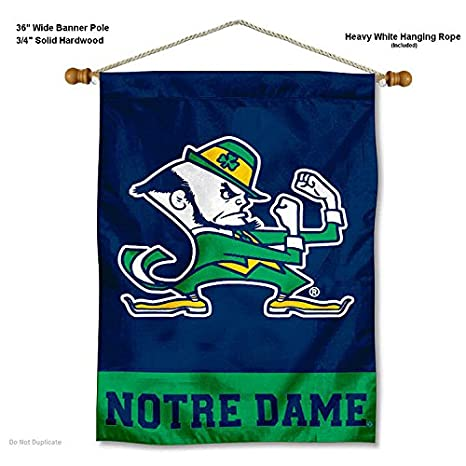 ca5eab0371d WinCraft Notre Dame Fighting Irish Pennant Full Size Felt College Flags and  Banners Co. Fan Shop