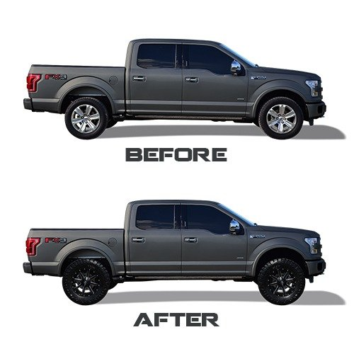 """Leveling Kit For Ford F150: Ford F150 2.5"""" Front CNC Machined"""